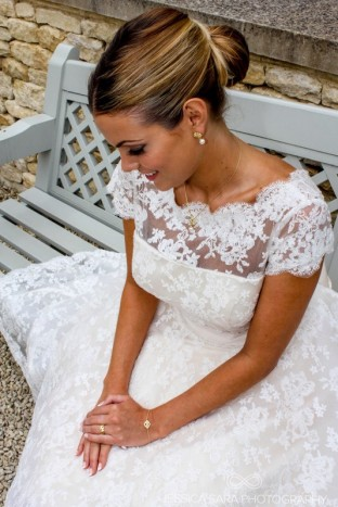 Tea Length Wedding Dress available here at Sarah Elizabeth Bridal Cheltenham, Gloucestershire