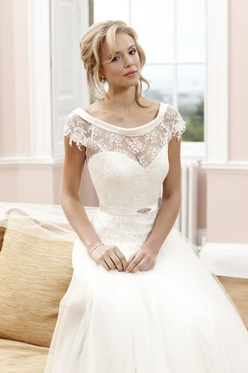 Sassi holford in bridal shop in montpellier cheltenham for British wedding dress designers