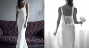 David Fielden at Sarah Elizabeth Bridal Boutique wedding dress shop in Cheltenham Gloucestershire.