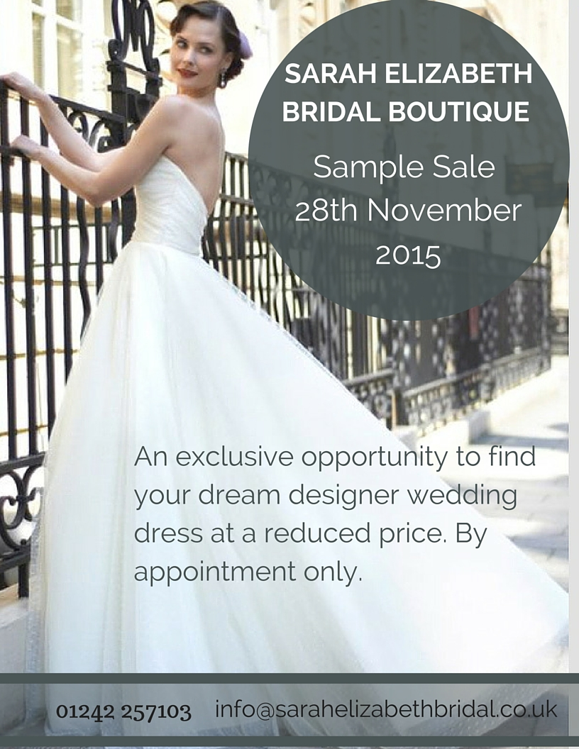 Sample Sale at Sarah Elizabeth Bridal Boutique
