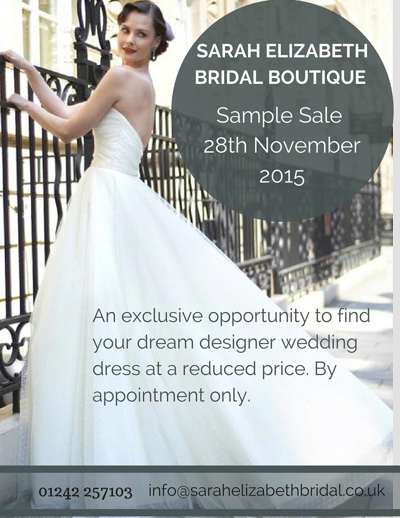 Wedding dress Sample Sale at Sarah Elizabeth Bridal Boutique ...