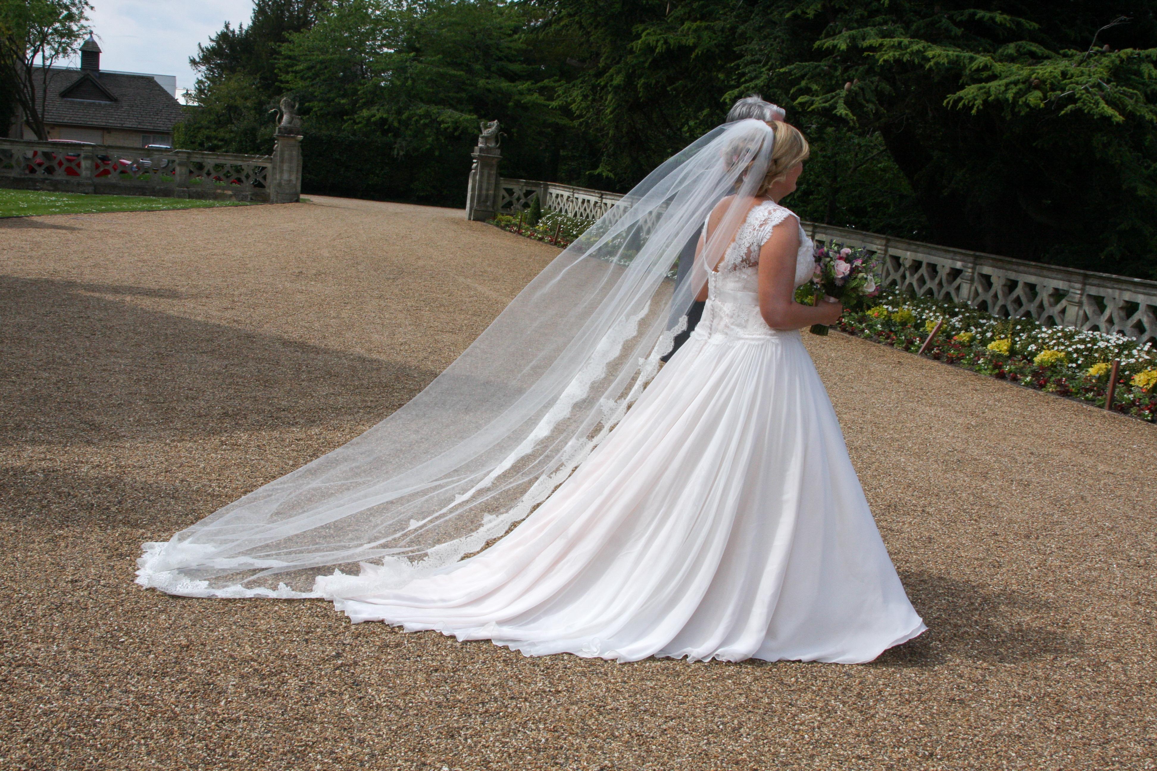 Real bride in her wedding dress from Sarah Elizabeth Bridal Boutique ...