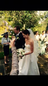 Real bride Rachael in her Caroline Castgliano Dress bought from Sarah Elizabeth Bridal Cheltenham Gloucestershire