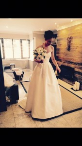 Real bride Rachael in her Caroline Castgliano Dress