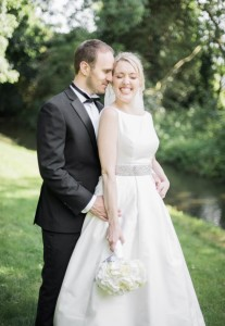 Real Bride in her wedding dress from Sarah Elizabeth Bridal