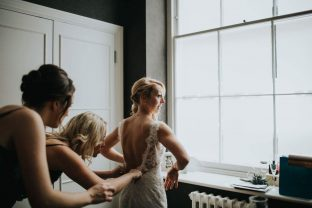 Real bride at Sarah Elizabeth Bridal Boutique
